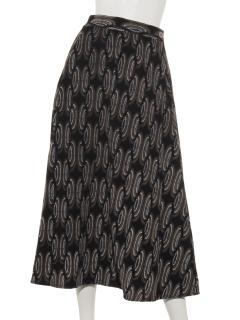 コーデュロイアフリカンプリントスカート