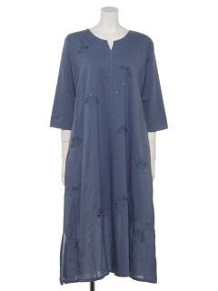 コットンクロッシェ刺繍クルタドレス