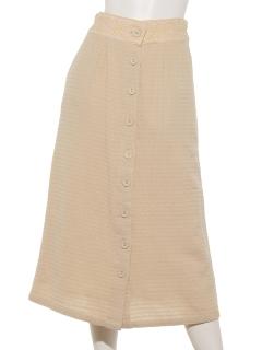 刺繍ドビーコットン前開きスカート