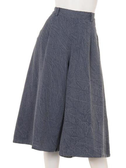 TANABANA (タナバナ) ストーンウォッシュワッフルキュロットスカート ブルー