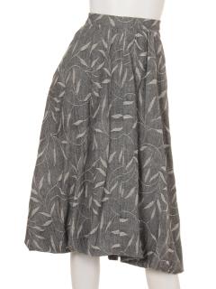 ジャガードリーフバルーンスカート