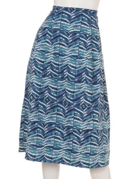 TANABANA (タナバナ) スクエアウェーブスカート ブルー