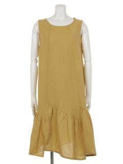 カラーすそ切替ドレス