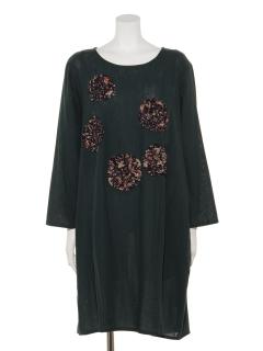 ぐるぐるリボン刺繍ドレス