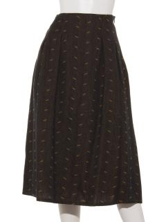 ピンツイード厚手綿スカート