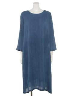 綿麻草木染めクレープドレス