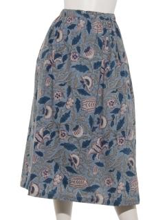 OCフラワーブロックスカート