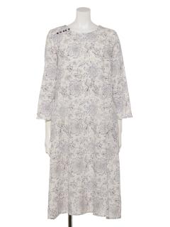 カディ更紗プリントドレス