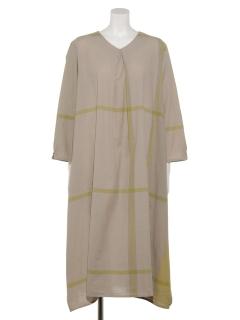 オーガニックコットンチェックドレス