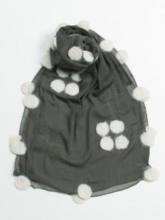 TANABANAフェルトシフォン丸花弁ストール