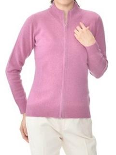 カシミヤ100%ジップアップセーター