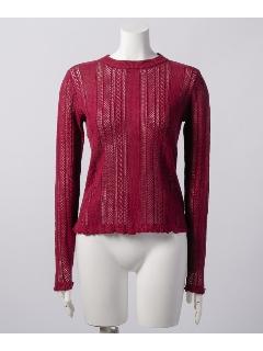 スカシ柄セーター