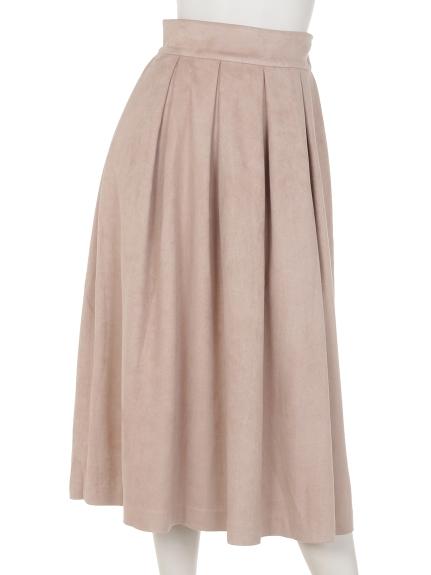 MIIA (ミーア) カラータックミモレスカート ピンク