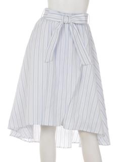 シャツ地イレギュラーヘムラップスカート
