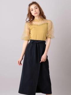 Aラインラップ風スカート