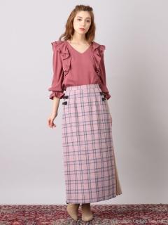 サイドプリーツロングスカート