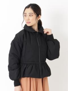 中綿ペプラムジャケット