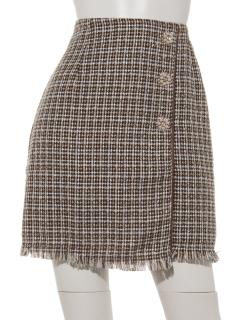 ツィードビジューラップ風スカート