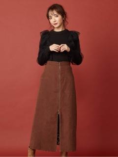 リバーシブルAラインスカート