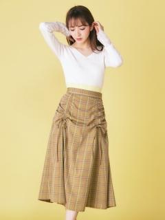ドロストチェック柄スカート