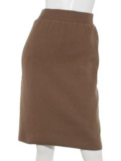 シンプルニットタイトスカート