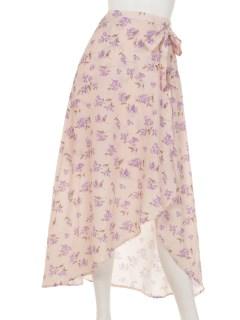 フロ-ラルプリントマキシスカート
