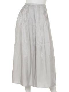 サテンクリスタルプリーツスカート