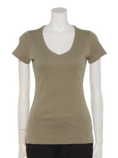 定番V開き前2重半袖Tシャツ