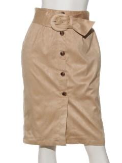 スウェードライクタイトスカート