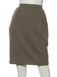 ストライプカットタイトスカート