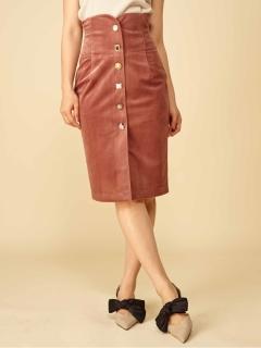 ジュエルボタンタイトスカート