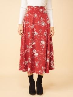 ラインフラワースカート