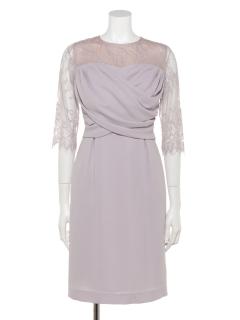 クロスドレープタイトドレス