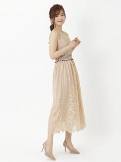 ジャカードレースミディアムドレス