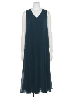 シフォンボリュームドレス