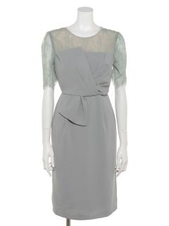 リボンタックタイトドレス