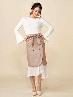 レイヤードタイトスカート