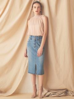 ベーシックデニムタイトスカート