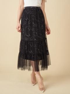 シトロンプリントレイヤードスカート