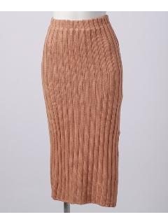 スリットニットスカート