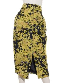 花柄ジャガードスカート