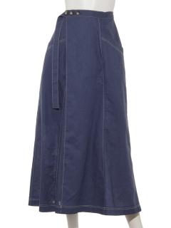 ステッチ配色スカート