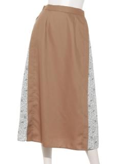 脇花柄スカート