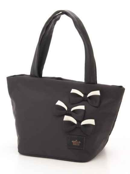 Hallmark (ホールマーク) 配色リボントートプレーン ブラック