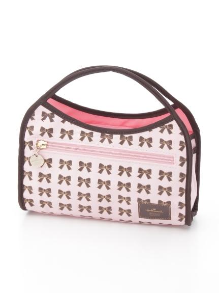 Hallmark (ホールマーク) ミニリボン柄バッグインバッグ ピンク