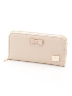 リボン付きラウンドファスナー財布