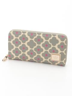花柄ラウンドファスナー財布