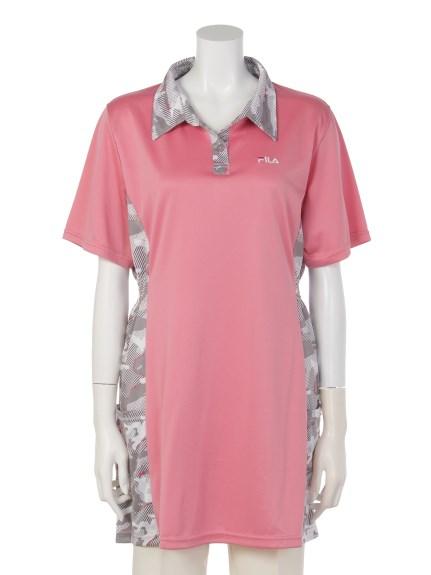 FILA (フィラ) スタイルアップポロチュニック ピンク