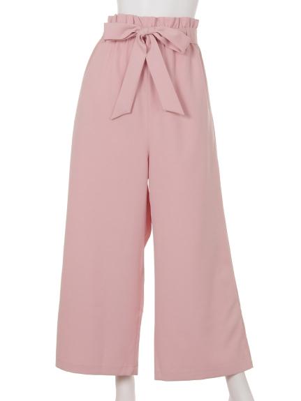 70%OFF ROYAL PARTY muse (ロイヤルパーティミューズ) RPmリボンベルト付きワイドパンツ ピンク