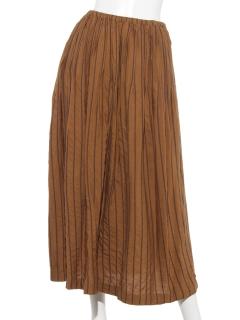 ストライプ刺繍 スカート